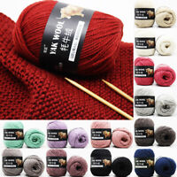 100 g/Balls Baby Yarn Yak Wool Hand Knitting Fashion Wool Crochet Yarn 30Colors