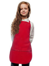 Red Kids Apron for your Little Chef High Quality Poly/Cotton Twill Fabric