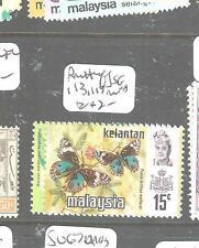 MALAYA KELANTAN (P2704B) BUTTERFLY SG 113, 117  MNH