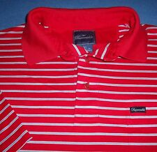 L FACONNABLE POLO RED BLUE WHITE STRIPED GOLF MENS SHIRT