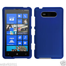 Nokia Lumia 820 Snap-On Hard Case Cover Accessory Solid Titanium Blue