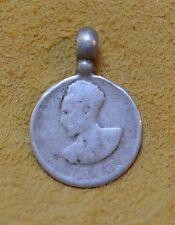 Antique Ethiopian Haile Selassie Coin Conquering Lion Pendant Ethiopia, Africa