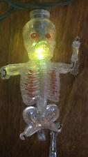 Vintage Halloween 10 Skeleton String Lights Flickering Tested Works.