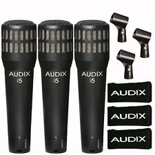 Audix i5 Dynamic Instrument Cardioid Microphone  (3-Pack) NEW! 2-DAY DELIVERY!!