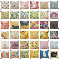 18'' Fashion Print Pillow Cases Polyester Sofa Car Cushion Cover Home Decor