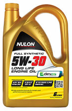 Box Of 3 Nulon Full Synthetic 5W30 Long Life Engine Oil 6L SYN5W30-SIX