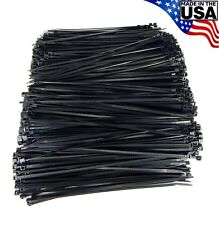 "Zip Cable Ties 8"" 40lbs 1000pc Uv Black Made in Usa Nylon Wire Tie Wraps"