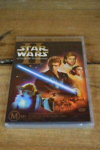 Star Wars - Episode II - Attack Of The Clones (DVD, 2002) - Ewan Mcgregor - New