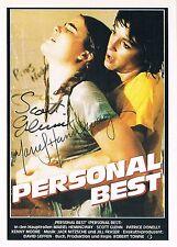 "Mariel Hemingway 1961- & Scott Glenn 1941- signed movie poster card 4""x5.5"""