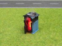 Baustellen Toilette Chemie Klo Brennend H0 1:87 12V LED Feuer Feuerwehr Einsatz