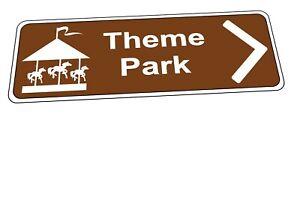 Theme Park Tourist Sign Novelty Tourist Attraction Fairground Sign Tourist Sign