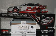 2017 BRAD KESELOWSKI #2 WURTH AUTOGRAPHED 1/24 CAR#53 OF 505 MADE COMES W/COA