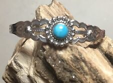 Sterling Silver Native American Navajo Hallmark Jp With Turquoise #1164