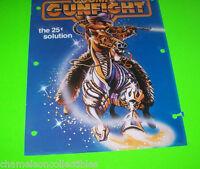 COSMIC GUNFIGHT By WILLIAMS 1983 ORIGINAL PINBALL MACHINE PROMO SALES FLYER
