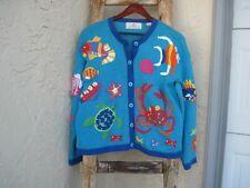 DESIGN OPTIONS Philip & Jane Vintage Embellished Novelty Sea Creature Sweater M