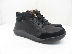 Clark's Men's Ashcombe GoreTex Waterproof Leather Boots 61041093 Black 8.5M