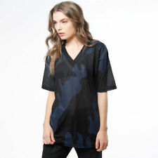 T-shirt Sweet Denim Indy Maglietta Donna streetwear Mimetica Rock Scura M/m Tg S