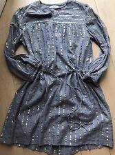 Isabel MARANT Cotton Dress Gold Thread 40 Uk 10 BN