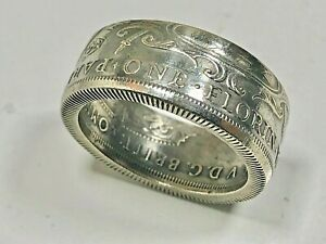 Ring Replica 1927 Australia Florin Australian Coin Ring Hand Made in Canada