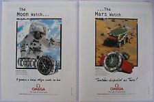 Omega Speedmaster Professional Ad Clipping Magazine 1998 (2x) avertising