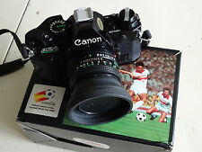 Programa de Canon AE-1 Negro Con Lente Canon 50 mm f1.8