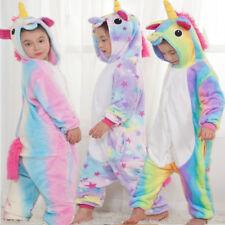 Kids Rainbow Unicorn Kigurumi Animal Cosplay Costume Onesie16 Pajamas Sleepwear
