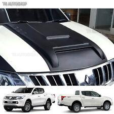 Matte Black Scoop Bonnet Vent Cover Mitsubishi L200 Triton Pickup 2015 2016 2017
