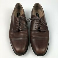Bostonian Mens Shoes 10.5 Leather Oxfords Lace Up Brown Cap Toe