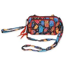 Laurel Burch Quilted Cotton Bright Colors All in One Crossbody Bag New