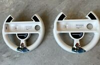 Mario Kart 8 White Steering Wheel (2)  Controller for Nintendo Wii/Wii U Pair!