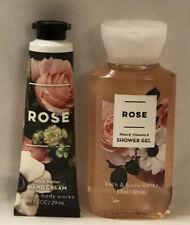 Bath And Body Works 2 Mini Piece Set ROSE Shower Gel+Hand Cream  Travel Size