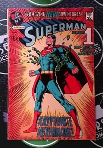 SUPERMAN #233 1971 6.5/7.0 JLA Bronze Age DC Comics Neal Adams Classic Cover!