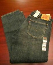 mens levi's 505 straight jeans 38x30 nwt $59.50 med dark faded