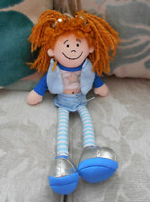 RAGDOLL soft toy, rag doll JELLYCAT Jelly Cat J203, blue clothing, silver star