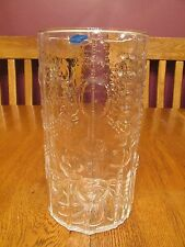 "Beautiful Oiva Toikka Nuutajarvi Finland Flora Clear 8 1/2"" Glass Vase ~ Label"