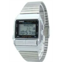 Casio Men's Digital Data Bank Stainless Steel Silver Watch DB520A-1