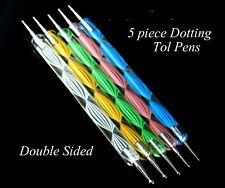"""Dotting Tools"" 5PCS Marbleising  Manicure Painting Nail Art Paint Pens - Set"