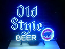 "Chicago Cubs Old Style Neon Lamp Sign 20""x16"" Bar Light Beer Windows Display"