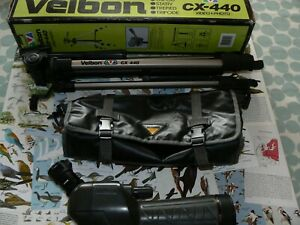 NIKON 15-45x ZOOM 60mm  ANGLED FIELDSCOPE or SPOTTING SCOPE  VELBON TRIPOD -NICE