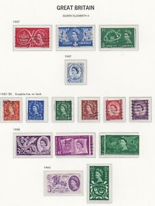 Lot:38334  GB QEII  Pre-Decimal album pages definitive and commems
