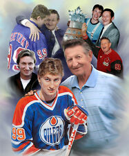 Wayne Gretzky-Walter Gretzky :giclee print on canvas poster painting B-4168