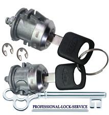Ford F250 F350 Super Duty 1999-2016 Door Lock Key Cylinder Pair Tumbler 2 Keys