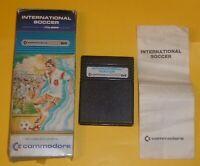 "COMMODORE 64 Boxed Cartridge Game ""International Soccer"" C64 CBM64"