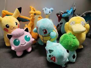 "8"" Pokemon Pikachu Bulbasaur Charmander Squirtle Plush Stuff Animal Figure Toy"