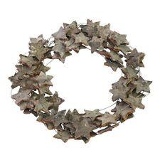 """Corteccia di betulla Stella di Natale """"Ghirlanda - 34cm-rustico e glitterate"""