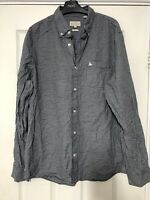 Jack Wills Long Sleeve Shirt Mens Nevy Blue Check Size Large L (D28)