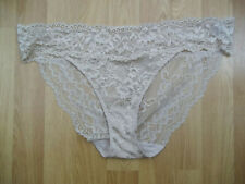 2 pairs of Marks & Spencer almond floral lace bikini knickers size 18