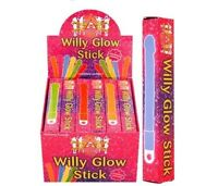 24 NOVELTY WILLY GLOW STICKS HEN STAG PARTY NIGHT ACCESSORIES RAVE NECKLACE GIFT