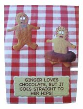 Fred & Ginger Chocolate Joke BLANK card by Great British card company