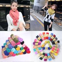 Women Candy Colors Soft Cotton&linen Long Scarf Wraps Shawl Scarves Stole New